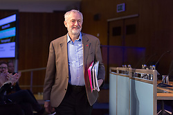© Licensed to London News Pictures. 05/11/2016. LONDON, UK.  Labour leader, JEREMY CORBYN arrivest to speak at a conference held at the Centre for Labour and Social Studies, Trade Union Congress in London. Mr Corbyn spoke about Brexit and also accused tax dodgers of being unpatriotic and pledged that a future Labour government would crackdown on individuals and companies who fail to pay their fair share of the cost of Britain's public finances.  Photo credit: Vickie Flores/LNP
