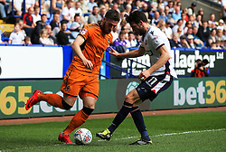 Matt Doherty of Wolverhampton Wanderers takes on Will Buckley of Bolton Wanderers - Mandatory by-line: Matt McNulty/JMP - 21/04/2018 - FOOTBALL - Macron Stadium - Bolton, England - Bolton Wanderers v Wolverhampton Wanderers - Sky Bet Championship
