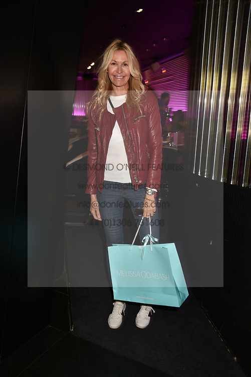 Melissa Odabash at the STK Ibiza themed brunch party at STK London, London, England. 7 May 2017.<br /> Photo by Dominic O'Neill/SilverHub 0203 174 1069 sales@silverhubmedia.com