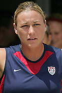 30 July 2006: Abby Wambach. The United States Women's National Team defeated Canada 2-0 at SAS Stadium in Cary, North Carolina, in an International Friendly match.