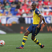 Abou Diaby, Arsenal, in action during the New York Red Bulls Vs Arsenal FC,  friendly football match for the New York Cup at Red Bull Arena, Harrison, New Jersey. USA. 26h July 2014. Photo Tim Clayton