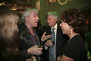 Geoffry Robertson, John Walsh and Kathy Lette, Colman Getty's 20th Birthday party. The Imagination Gallery. Store St. London W1. 17 January 2006.  -DO NOT ARCHIVE-© Copyright Photograph by Dafydd Jones. 248 Clapham Rd. London SW9 0PZ. Tel 0207 820 0771. www.dafjones.com.