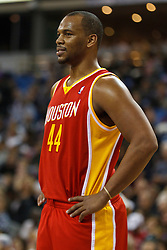 March 7, 2011; Sacramento, CA, USA;  Houston Rockets center Chuck Hayes (44) before a free throw against the Sacramento Kings during the first quarter at the Power Balance Pavilion. Houston defeated Sacramento 123-101.