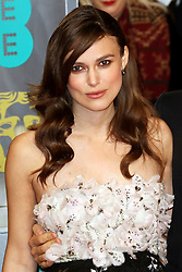 © London News Pictures. Keira Knightley, EE British Academy Film Awards (BAFTAs), Royal Opera House Covent Garden, London UK, 08 February 2015, Photo by Richard Goldschmidt /LNP