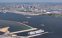 Aerial photo of The Patriot vessel at Fairfield Terminal at the Port of Baltimore by Jeffrey Sauers of Commercial Photographics, Architectural Photo Artistry in Washington DC, Virginia to Florida and PA to New England