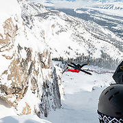 Teton Brown double backflipping into Corbet's.