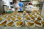 A free Thanksgiving dinner included, of course, pumpkin pie at the Northside Baptist Church in Ruskin, Florida.