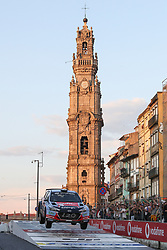 May 18, 2018 - Matosinhos, Matosinhos, Portugal - ARMINDO ARAUJO (PRT) and LUIS RAMALHO (PRT) in HYUNDAI I20 RS of TEAM HYUNDAI PORTUGAL ARMINDO ARAUJO in action during the SS8 Porto Street Stage 1 of WRC Vodafone Rally de Portugal 2018, at Matosinhos in Portugal on May 18, 2018. (Credit Image: © Dpi/NurPhoto via ZUMA Press)