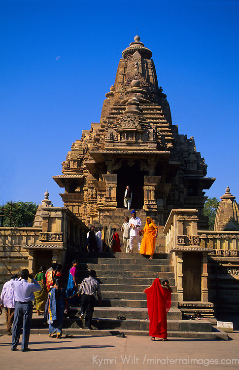Asia, India, Khajuraho. Temple at Khajuraho