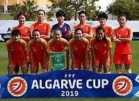International Women's Friendly Matchs 2019 / <br /> Womens's Algarve Cup Tournament 2019 - <br /> China v Norway 1-3 ( Municipal Stadium - Albufeira,Portugal ) - <br /> Team of China ,pose prior the match ,from the left up :WANG LINLIN ,LIN YUPING ,WANG SHIMENG ,LI YING ,WANG SHANSHAN ,YAO WEI //<br /> LOU JIAHUI ,HUANG YINI ,WU HAIYAN ,GU YASHA ,LIU SHANSHAN