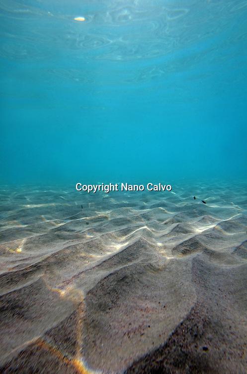 Underwater view of Son Park beach, Menorca