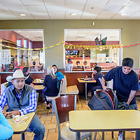 Families arrive for the Ronald McDonald House of New Mexico celebrated anniversary event at the east-side McDonalds in Gallup Wednesday.