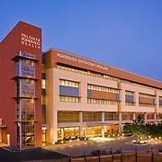 Pacific Medical Buildings<br /> Palomar Pomorado Health<br /> Pacific Medical Buildings developed this five-story MOB and parking structure on the Palomar Hospital campus in Poway, near San Diego CA. The project was designed by Anshen + Allen Architects and was completed in early 2008.