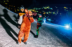 05.02.2018, Lechnerberg, Kaprun, AUT, Nacht der Ballone, im Bild Maskottchen // mascot during the International Balloonalps Week, Lechnerberg, Kaprun, Austria on 2018/02/05. EXPA Pictures © 2018, PhotoCredit: EXPA/ JFK