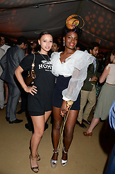 The Johnnie Walker Gold Label Reserve Party aboard John Walker & Sons Voyager, St.Georges Stairs Tier, Butler's Wharf Pier, London, UK on 17th July 2013.<br /> Picture Shows:-Leah Weller & Shingai Shoniwa