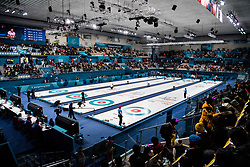 February 8, 2018 - Pyeongchang, South Korea - 180208 Overview at the Gangneung Curling Centre during the round robin of the curling mixed doubles between OAR (Russia) and Norway ahead of the 2018 Winter Olympics on February 8, 2018 in Pyeongchang..Photo: Petter Arvidson / BILDBYRN / kod PA / 91954 (Credit Image: © Petter Arvidson/Bildbyran via ZUMA Press)