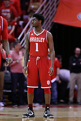 11 February 2017:  Donte Thomas during a College MVC (Missouri Valley conference) mens basketball game between the Bradley Braves and Illinois State Redbirds in  Redbird Arena, Normal IL