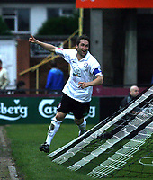 Photo: Mark Stephenson/Sportsbeat Images.<br /> Hereford United v Darlington. Coca Cola League 2. 03/11/2007.Hereford's Ben Smith celebrates his goal