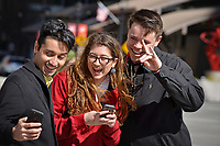PRTM students pose for a selfie while visiting downtown Raleigh.