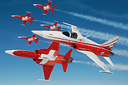 Swiss jet team Patrouille Suisse  in F-5Es