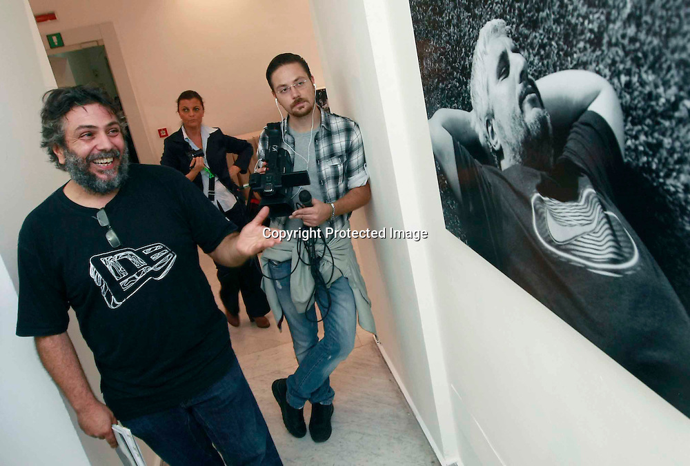 Naples ( Museum of modern art PAN ) October 15, 2015<br /> The life of Pino Daniele with images of a staff photographer by Pino Daniele Alessandro D'urso  with his show &quot; ADDOVE &quot; 20 years with Pino Daniele.<br /> Ph: Fotonews / Renna<br /> Pictured ; Alessandro D'Urso