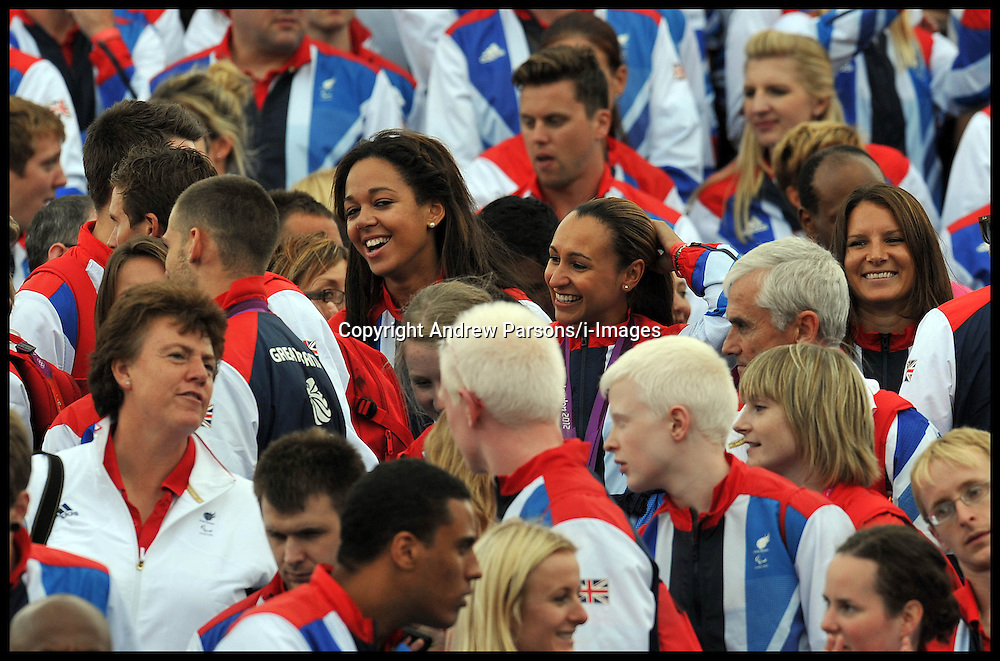 Jessica Ennis at The Olympic Parade at the Queen Victoria Memorial, London, Monday September 10, 2012 Photo Andrew Parsons/i-Images..All Rights Reserved ©Andrew Parsons / i-Images<br />