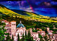&ldquo;Heavens erupting with rainbows over the Cathedral of San Rufino Assisi&rdquo;&hellip;<br />