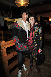 RONNIE WOOD and MARJORIE WALLACE at the gala night party of Losing It staring Ruby Wax held at he Menier Chocolate Factory, 51-53 Southwark Street, London SE1 on 23rd February 2011.