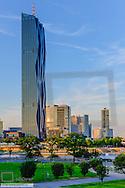 Donaucity, Danube City, DC Tower by architect Dominique Perrault, 250m, Vienna, Austria
