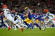 LA Rams Wide Receiver Cooper Kupp (18) in action during the International Series match between Los Angeles Rams and Cincinnati Bengals at Wembley Stadium, London, England on 27 October 2019.