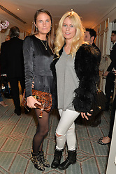 Left to right, VICTORIA VON WESTENHOLZ and VIOLET VESTEY at the launch of Mrs Alice in Her Palace - a fashion retail website, held at Fortnum & Mason, Piccadilly, London on 27th March 2014.