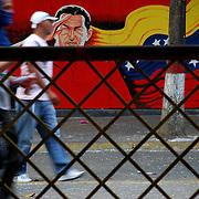 VENEZUELAN POLITICS / POLITICA EN VENEZUELA<br /> Man hooded walking through the streets of Caracas / Hombre encapuchado camina por las calles de caracas<br /> Caracas - Venezuela 2009<br /> (Copyright © Aaron Sosa)