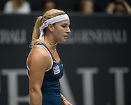 Dominika Cibulkova (SVK) during the semi finals of the WTA Generali Ladies Linz Open at TipsArena, Linz<br /> Picture by EXPA Pictures/Focus Images Ltd 07814482222<br /> 15/10/2016<br /> *** UK &amp; IRELAND ONLY ***<br /> <br /> EXPA-REI-161015-5005.jpg