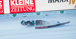 10.01.2015, Kulm, Bad Mitterndorf, AUT, FIS Ski Flug Weltcup, Bewerb, im Bild Jurij Tepes (SLO, 3. Platz) // crashed after his Competition Jump of the FIS Ski Flying World Cup at the Kulm, Bad Mitterndorf, Austria on 2015/01/10, EXPA Pictures © 2015, PhotoCredit: EXPA/ Dominik Angerer