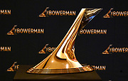 Dec 20, 2018; San Antonio, TX, USA; Detailed view of the Bowerman trophy at the 10th Bowerman Awards at the JW Marriott San Antonio Hill Country Resort & Spa.