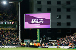 VAR gives penalty decision- Mandatory by-line: Phil Chaplin/JMP - 27/10/2019 - FOOTBALL - Carrow Road - Norwich, England - Norwich City v Manchester United - Premier League