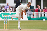 Neil Dexter bowling during the Specsavers County Champ Div 2 match between Leicestershire County Cricket Club and Durham County Cricket Club at the Fischer County Ground, Grace Road, Leicester, United Kingdom on 9 July 2019.