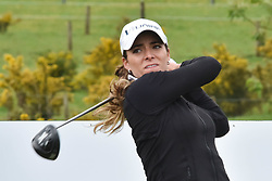 October 1, 2017 - Auckland, Auckland, New Zealand - Mexican's Gaby Lopez tees off during the final round of the MCKAYSON New Zealand Women's Open at Windross Farm in Auckland, New Zealand on Oct1, 2017. Featuring World Number One Lydia Ko, TheMCKAYSONNew Zealand Women's Open is the first ever LPGA Tour event to be played in New Zealand. (Credit Image: © Shirley Kwok/Pacific Press via ZUMA Wire)