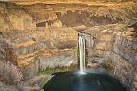 Eastern Washington's iconic Palouse Falls is a 198-foot waterfall on the Palouse River which empties into the Snake River. These ancient basalt cliffs were created by lava and ground down by massive glaciers.