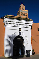 The Koutoubia Mosque is the largest mosque in Marrakech, Morocco.