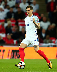 John Stones of England - Mandatory by-line: Robbie Stephenson/JMP - 05/10/2017 - FOOTBALL - Wembley Stadium - London, United Kingdom - England v Slovenia - World Cup qualifier
