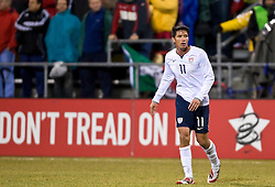 United States forward Brian Ching (11).  The United States men's soccer team defeated the Mexican national team 2-0 in CONCACAF final group qualifying for the 2010 World Cup at Columbus Crew Stadium in Columbus, Ohio on February 11, 2009.