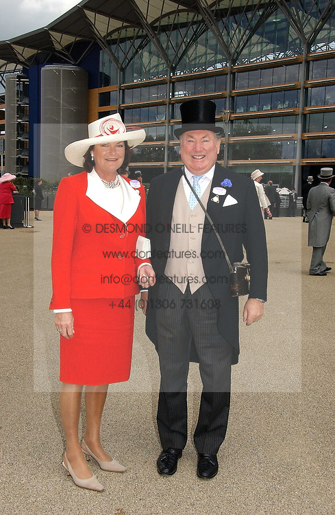 ANTHONY & ANTOINETTE OPPENHEIMER at the first day of the Royal Ascot racing festival 2006 at Ascot Racecourse, Berkshire on 20th June 2006.<br />