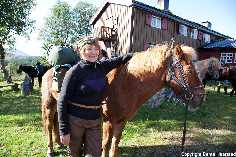 Kim Anderzon, swedish actor. Horseback holiday with Dyrhaug Ridesenter for 20 years.