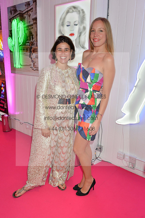 Left to right, SOPHIE LILLINGSTON and SOPHIE STUART at Light Up Your Life - a party hosted by Lillingston held at Lights of Soho, 35 Brewer Street, London on 1st October 2015.