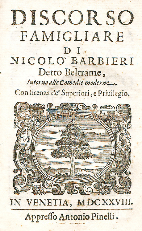 Nicocolo Barbieri 1586 - 1641 Italian writer and actor of the commedia dell'arte . Barbieri was a successful author and actor. Besides plays, he wrote essays on theatre; his prominent essay is La supplica. Discorso famigliare a quelli che trattano de' comici (1634), a passionate apology of theatre and actors.