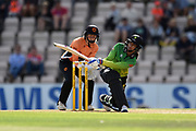 Smriti Mandhana of Western Storm batting during the Women's Cricket Super League match between Southern Vipers and Western Storm at the Ageas Bowl, Southampton, United Kingdom on 11 August 2019.