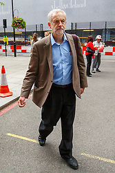 © Licensed to London News Pictures. 27/08/2015. London, UK. Labour Party leader candidate Jeremy Corbyn attending a husting hosted by Daily Mirror at DoubleTree Hilton Hotel in London on Thursday, August 27, 2015. Photo credit: Tolga Akmen/LNP