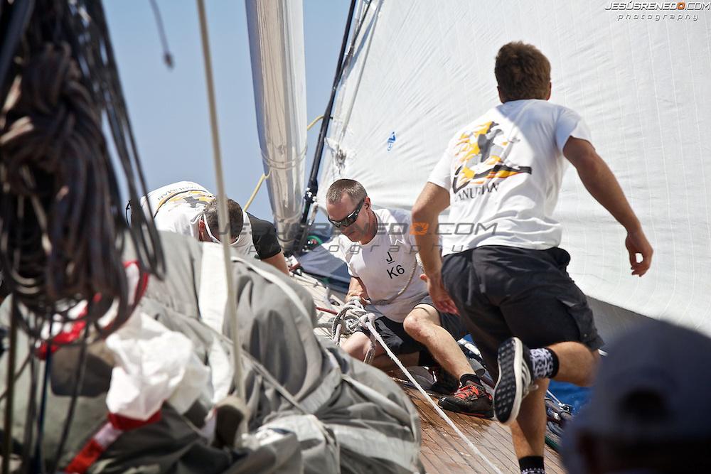 MENORCA MAXI 2014,on board J Class Hanumann © Jesus Renedo