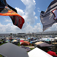 A general overview of the infield camping area is seen prior to the 57th Annual NASCAR Coke Zero 400 stock car race at Daytona International Speedway on Sunday, July 5, 2015 in Daytona Beach, Florida.  (AP Photo/Alex Menendez)